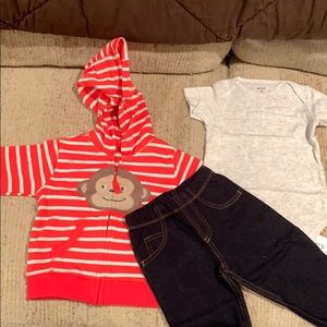 Three piece Carter's outfit